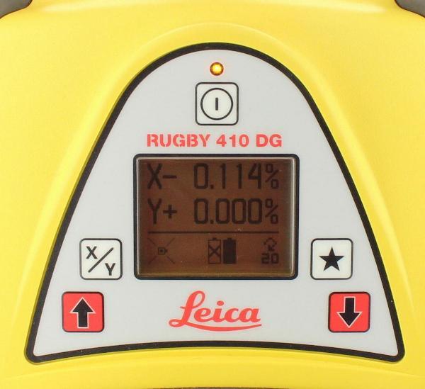 Leica Rotationslaser Rugby 410DG mit Rod-Eye 140 Classic