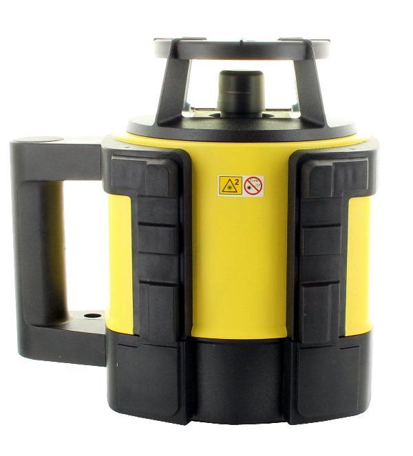Leica Rotationslaser Rugby 810 mit Li-Ion-Akku, Ladegerät und Rod-Eye 140 Classic