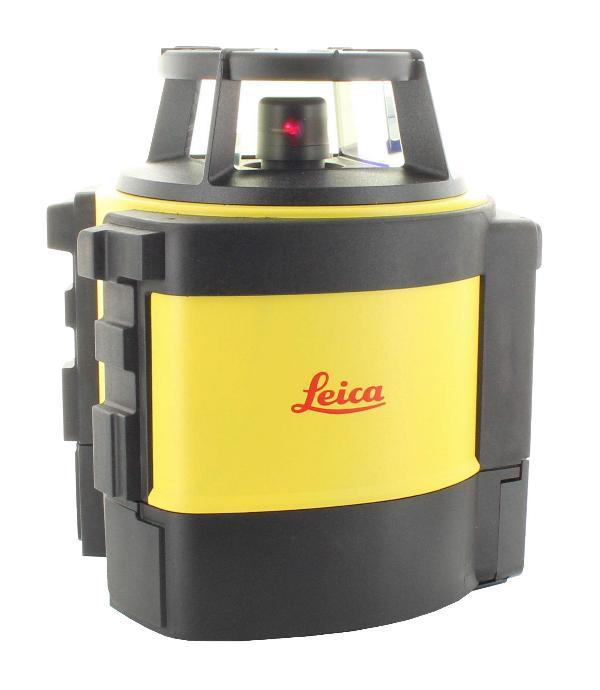 Leica Rotationslaser Rugby 840 mit Li-Ion-Akku, Ladegerät und Rod-Eye 180 Digital RF