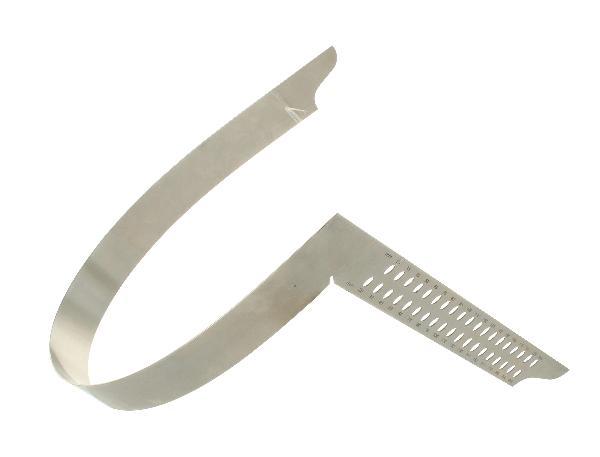 Zimmermannswinkel hedue ZN 800 mm mit mm-Skala Typ A und Anreißlöcher