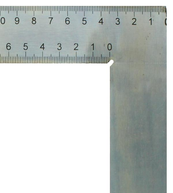 Zimmermannswinkel hedue ZV 600 mm mit mm-Skala Typ A