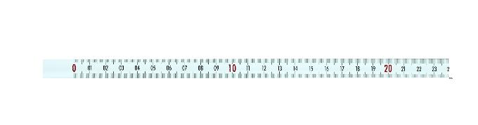 Selbstklebendes Maßband 2 m, von links nach rechts