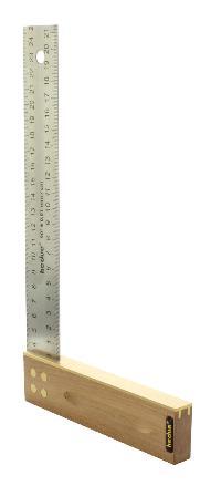 Tischlerwinkel Nussbaum 300 mm Edelstahlblatt 35 mm