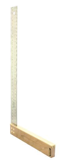 Tischlerwinkel Nussbaum 400 mm Edelstahlblatt 35 mm