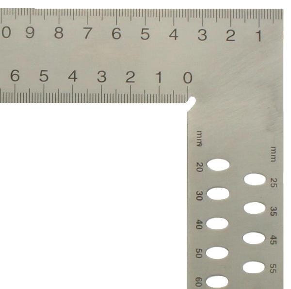 Zimmermannswinkel hedue ZN 600 mm mit mm-Skala Typ A und Anreißlöcher