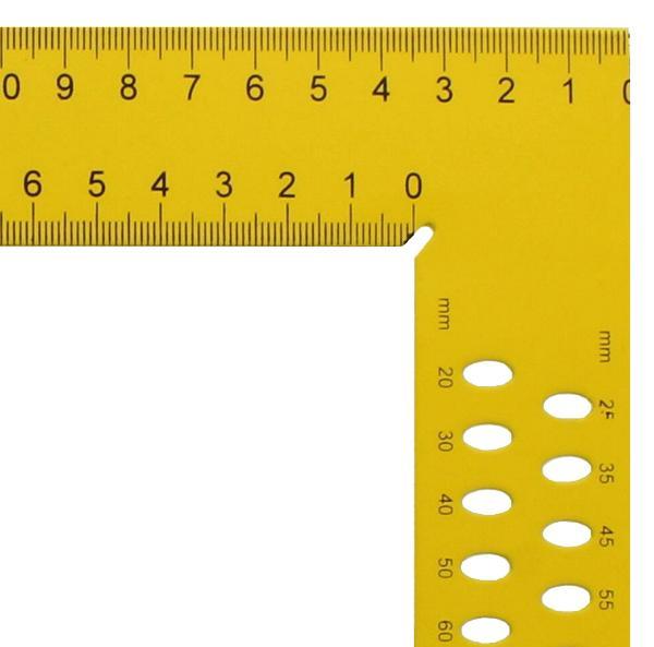 Zimmermannswinkel hedue ZY 700 mm mit mm-Skala Typ A und Anreißlöcher