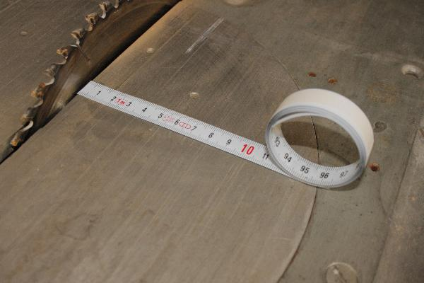 Cinta métrica autoadhesiva 1 m, de la izquierda a la derecha