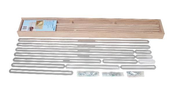 Plantilla graduada de ángulos con 13 listones de aluminio