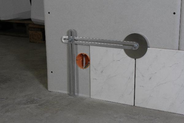 Soporte para instrumentos de trazado de losas