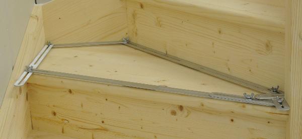 Gabarit d'angle avec 13 rails en aluminium