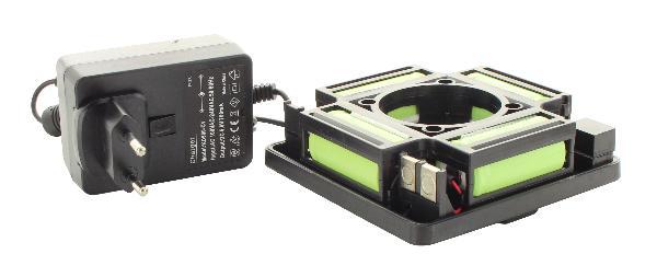 Set con batteria e caricabatterie per laser rotante hedue Q2 e R3
