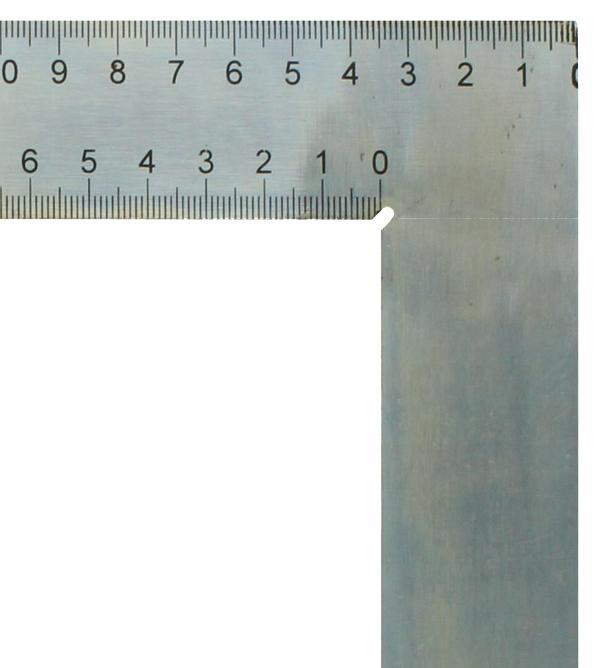 Squadra da carpentiere hedue ZV 600 mm con mm-Skala Typ A