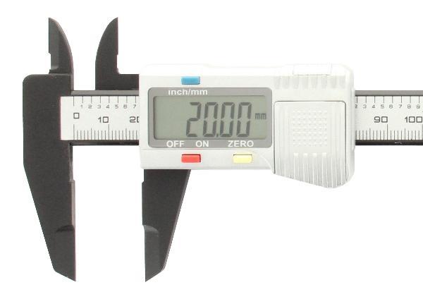 Digitale schuifmaat 150 mm Carbon