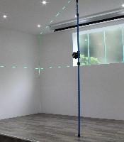 Laser liniowy hedue L1G w zestawie